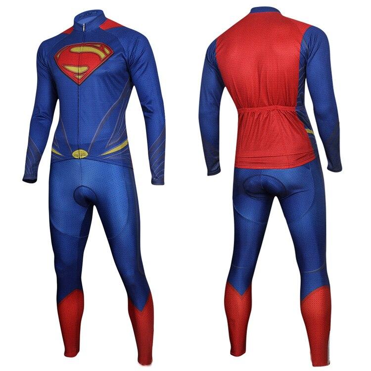 Strumpfhosen Unglaubliche Superhero Atmungs Radfahren Anzug Superman Mens Long Sleeves Radfahren Strumpfhosen Anzug Fahrrad Reitkleidung & Hosen Spezieller Sommer Sale
