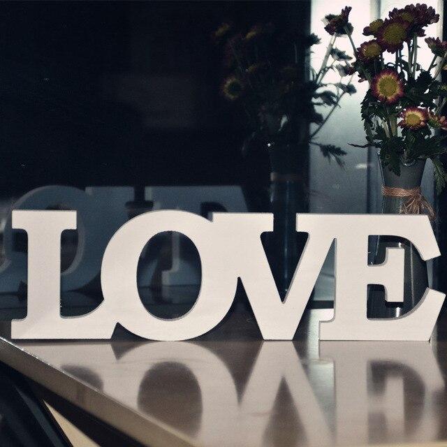 Wooden Romantic Love Letters For Wedding Decoration LOVE Home Decor Letters  Event Party Supplies Hot Sale