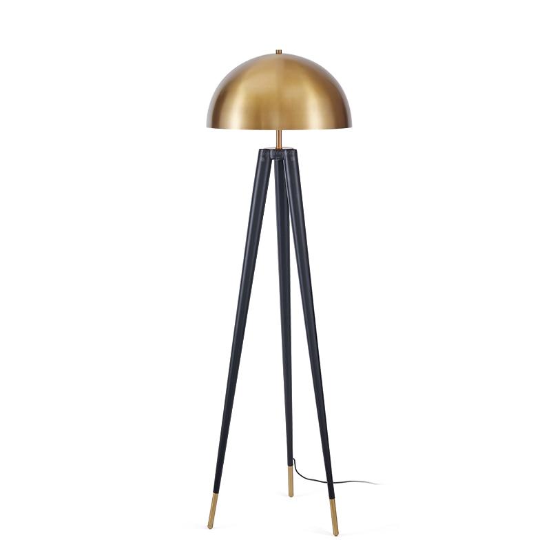 retro tripod gold floor lamp italian designer floor lamp for living room gold lampshade industrial floor - Gold Floor Lamp