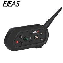 EJEAS E6 Bluetooth домофон шлем гарнитура мотоцикл домофон микрофон телефон 1200 м коммуникатор домофон для 6 гонщиков