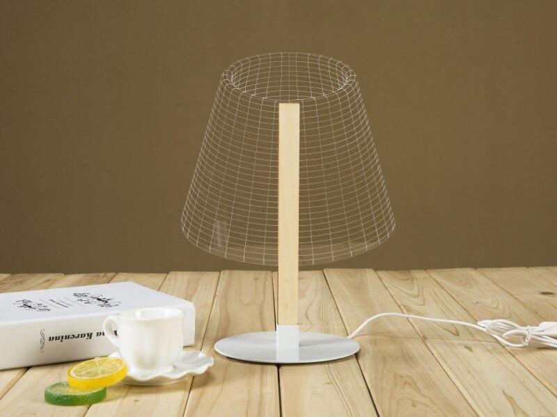 Նորույթների դիզայն 3D լուսավորված գիշերային լույս USB անջատիչ սեղանի լամպ Lanterna Luminaria Led lamp lampada Տոնական գիշերային լույս
