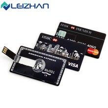 The Credit Card USB Flash Drive Pendrive 4GB 8GB 16GB 32GB External Memory Storage u disk Pen Drive usb 2.0 customized for gift