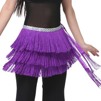 Womens New 3 Layers Tasseled Belly Dance Belt Waist Chain Fringed Hip Scarf 12 Colors