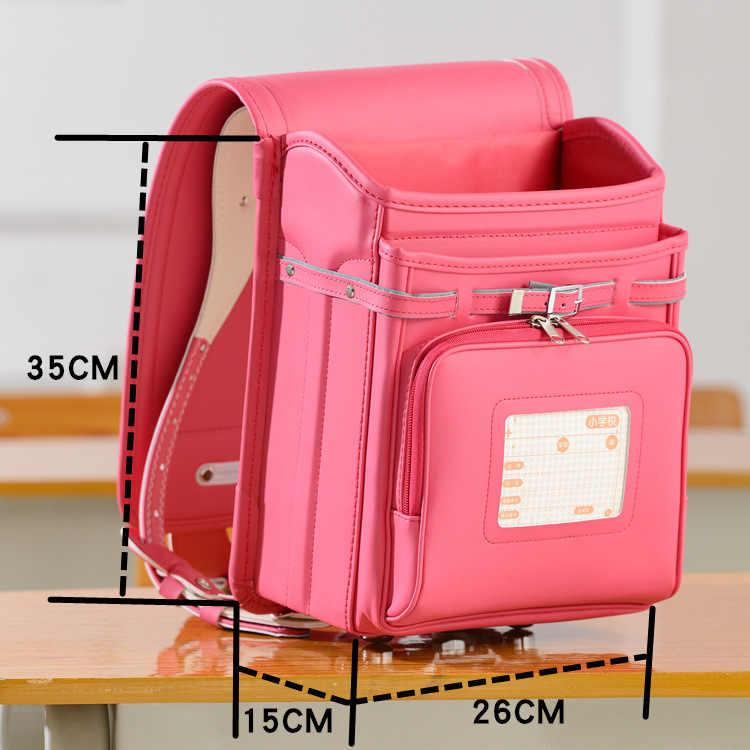 Детская мода школьная сумка для мальчиков и детей рюкзак довольно японский студент рюкзаки малыш большой Randoseru основной школьный