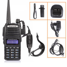 купить BAOFENG UV-82 VHF UHF Dual Band 136-174/400-520 2-PTT Two Way Radio+earpiece+MOSCOW stock дешево