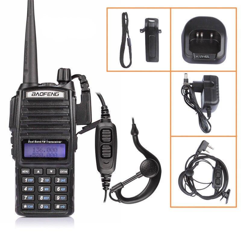 bilder für BAOFENG UV-82 VHF UHF Dual Band 136-174/400-520 2-PTT Zweiwegradio hörmuschel + MOSKAU lager