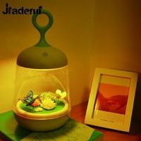 Jiaderui Novelty Touch Sensor Plants Light Colorful 3D Rabbit Butterfly Nightlight USB Charging LED Lamp DIY