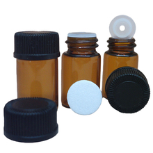 Cosmetics gifts brown essential oil sub-bottle portable small screw glass bottle perfume sample empty