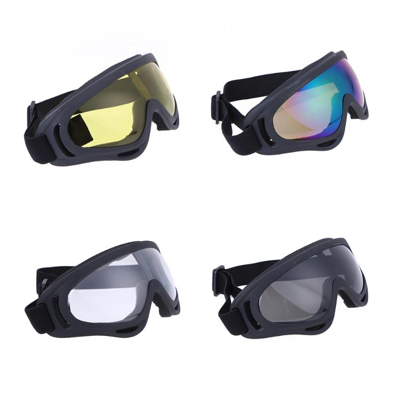 1Pair Outdoor Motorcycle Cycling Goggles Wind Airsoft Protection Safety Bike Sking Road Racing Anti Sand Sports Ski Glasses New