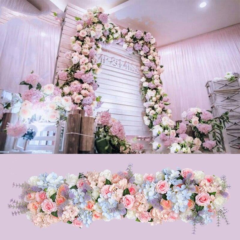 Flower Decoration Wedding: Artificial Flower Strip Wedding Pavillion Flowers Strips