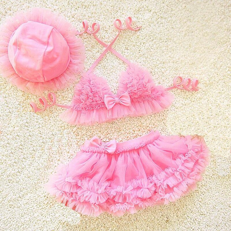 Dollplus Children Swimwear Girls Swimwear kids Infantil Swimsuit for Girl Summer Bathing Suit 3pcs Bikini Swim Girls clothes in Swimwear from Mother Kids