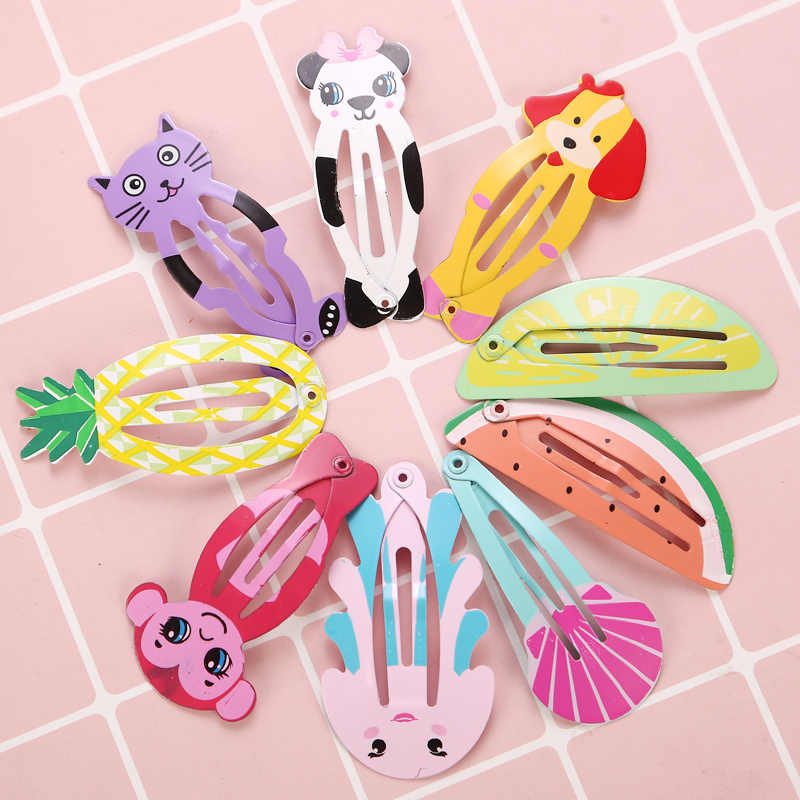 5Pcs/Lot Fashion Cartoon Child Kids Cute Barrette Hairclips Color Hair Pin Girls Women New Party Gifts Hair Accessories Headwear