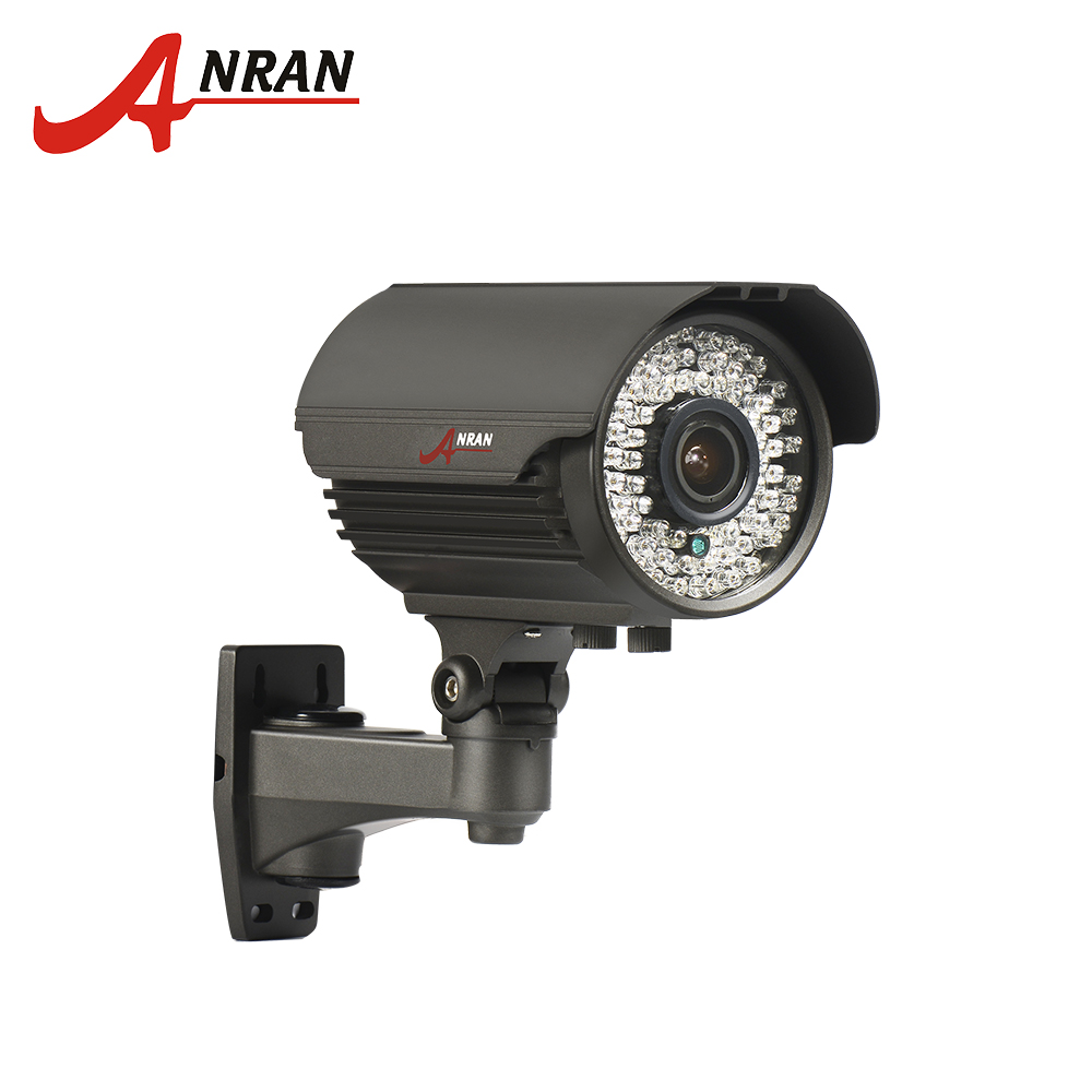 ANRAN Bullet Camera POE HD 2MP 48V IP Camera 2.8mm-12mm Manual Lens Motion Detect Night Vision CCTV Camera IR Security Camera