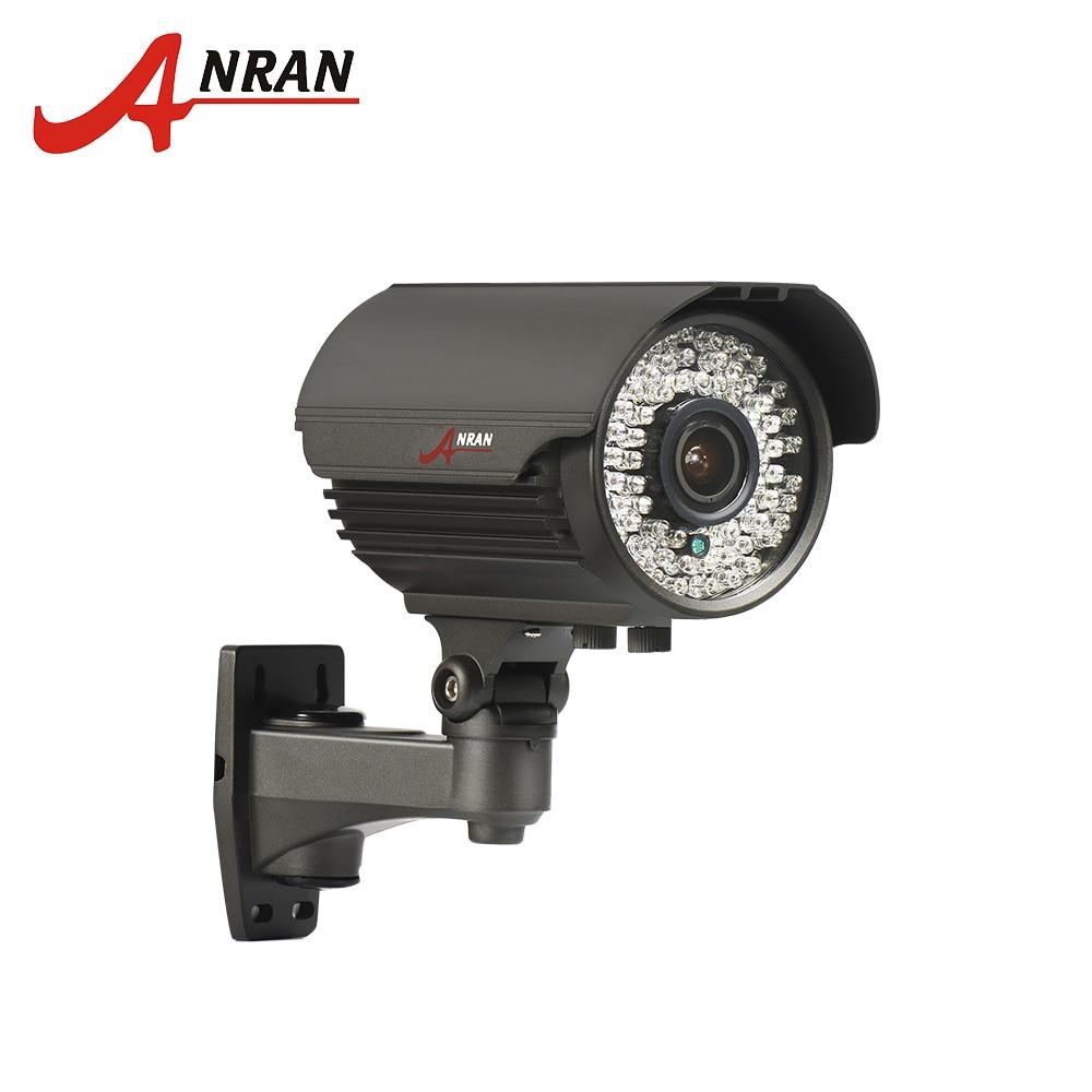 ANRAN Bullet Camera POE HD 2MP 48V IP Camera 2.8mm-12mm Manual Lens Motion Detect Night  ...