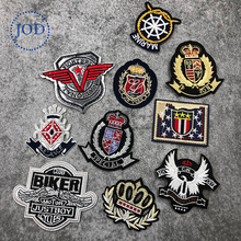 JOD Army Military Motif Badge Embroidery Patches Fabric Sticker Iron on Sewing Patch Decorate Biker Punk Soccer