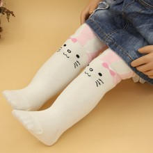 Cotton Knitting Baby Girls Tights Cartoon Rabbit Baby Tights For Girls Spring Style Soft Children Gifts