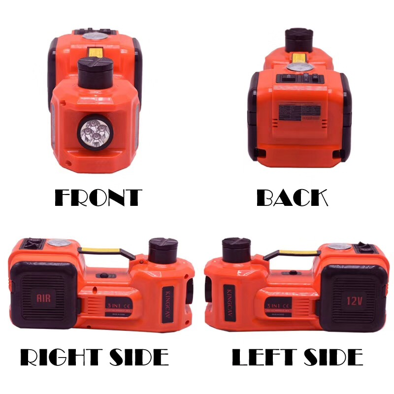 Купить с кэшбэком Fast Free shipping portable 3 functions electric hydraulic jack impact wrench and air compressor for Russian free tax