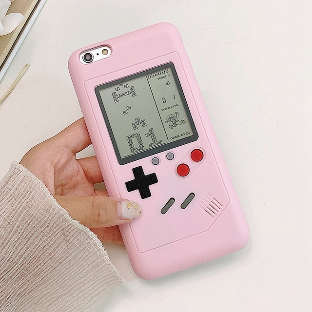 new product f9544 b07a7 US $6.99 |Tetris Phone Cases for iPhone 6 6S 7 8 Plus Soft TPU Can Play  Blokus Game Console Cover For Iphone X-in Fitted Cases from Cellphones & ...