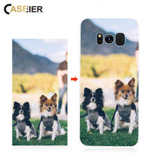 CASEIER DIY Custom Phone Case For Samsung S10 S10E S8 S9 Plus Print Photo Name Pictures Design Phone Case For iPhone Huawei Capa(China)