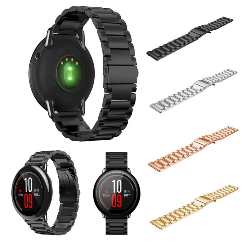 Top Stainless Steel Bracelet Smart Watch Strap For Xiaomi Huami Amazfit 22mm