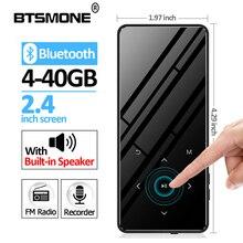 BTSMONE reproductor de MP3 con pantalla táctil, Bluetooth 4,2, altavoz de 40G, inalámbrico, portátil, con Radio FM