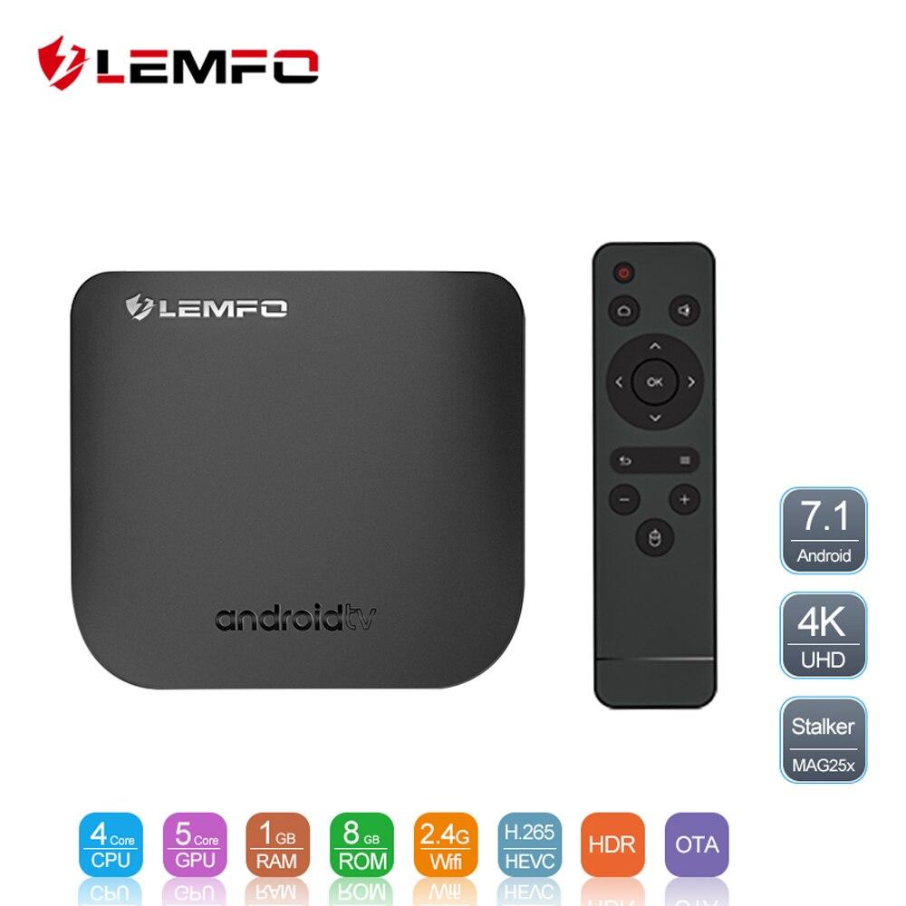 LEMFO Mini Ultra-Delgado inteligente Android TV Box Android 7,1 Full HD 4 K 2,4g Wifi Bluetooth 1 GB + 8 GB OTA actualización Set Top Box