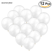 12 inches transparent latex balloon wedding decoration ballons magic props 12pcs helium clear ballons Event & party supplies(China)