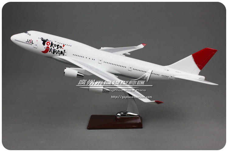 47cm Boeing 747 Yokoso Japan Airlines Airplane Model JAL Air Japan B747-400 Airbus Airways Resin Aircraft Scale Model Collection 1 400 jinair 777 200er hogan korea kim aircraft model