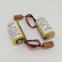 MasterFire 3pcs/lot New Original Battery For Panasonic BR-2/3A 3V 1200mAh PLC Li-ion Batteries with Two-hole Plugs FANUC