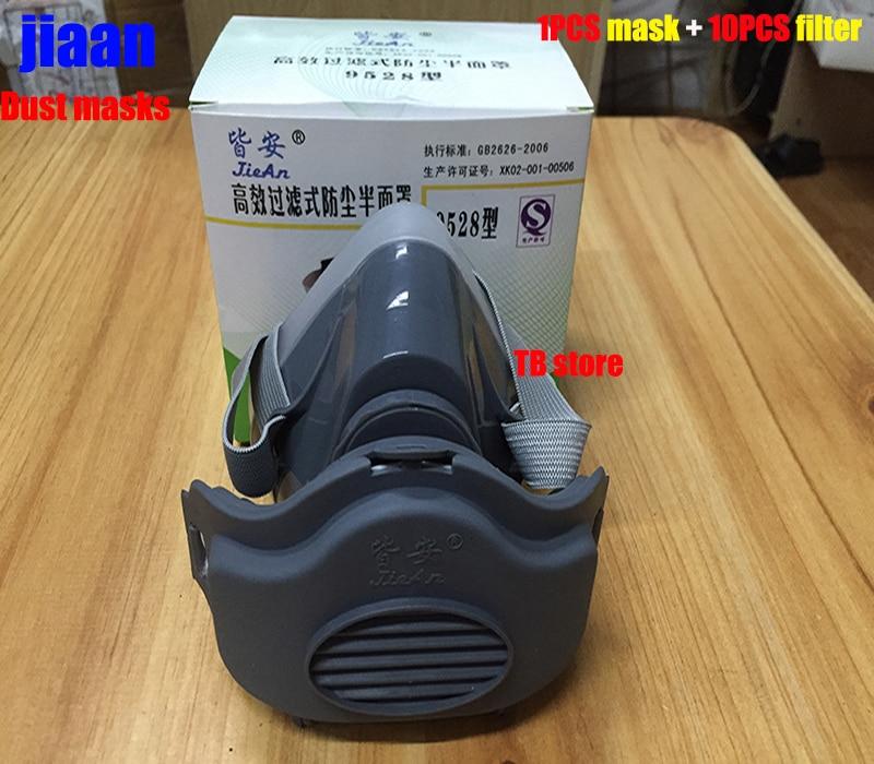 jiean respirator dust mask 1PCS mask + 10PCS filter respirator mask dust PM2.5 Polished Food dust Industrial dust filter mask op7 6av3 607 1jc20 0ax1 button mask