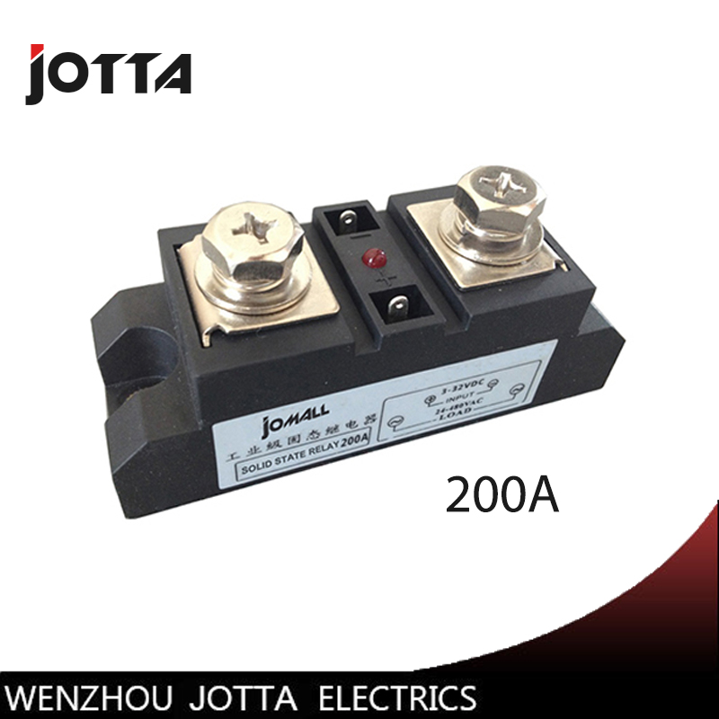 SSR-200A Industrial SSR 200A Input 3-32VDC;Output 24-680VAC industrial ssr relay 200a normally open single phase solid state relay ssr mgr 1 d48120 120a control dc ac 24 480v