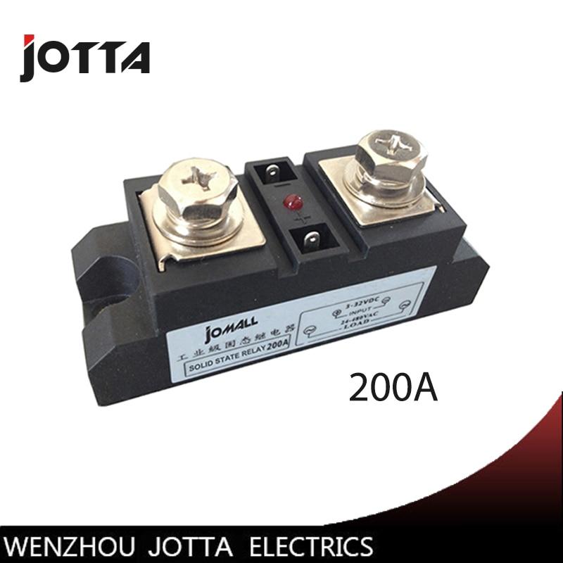 SSR-200A Industrial SSR 200A Input 3-32VDC;Output 24-680VAC industrial ssr relay 200a hammer nap 200a 25