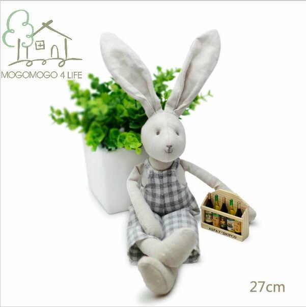 Luksusowe pluszowe króliczki ubrane w kombinezony Ecofriendly Cotton Baby Sleep zabawki urocza dziewczyna lalka królik wypchane zwierzę miękkie zabawki