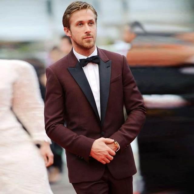 2017 New Tuxedos Jacket Burgundy Tuxedo Wedding Suits For Men Custom Made Maroon Prom Dress Mens Slim Fit Blazer