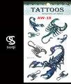Тепло 3 d временные татуировки скорпион татуировки флэш татуировки Индия Россия wmen тела наклейки боди-арт татуировка