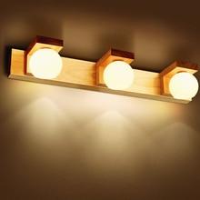 Creative Personality LED Bedside Bedroom Wood Wall Lamp Northern Europe Modern Aisle Corridor Decorative Wall Lights