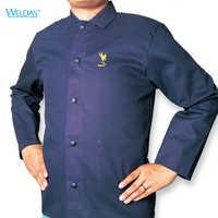 Ropa de soldadura retardante de llama FR algodón overall FR ropa de soldadura de algodón chaquetas de soldador retardante de fuego
