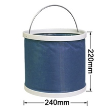 Retractable  9L Folding Blue Bucket Barrel  for Outdoor Camping Hiking Fishing Car Wash Travel Outdoor Fishing Tackles