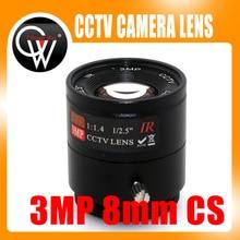 3mp 8mm CS Lens CS Mount HD CCTV Camera lens for Day/night CCD Security CCTV ip camera