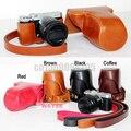 Бесплатная доставка. Кожанный чехол для фотоаппаратов Fujifilm Fuji X-M1 X-A1 XM1 XA1 XA2 X-A2