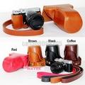 Free shipping Leather Camera case bag for Fujifilm Fuji X-M1 X-A1 XM1 XA1 XA2 X-A2