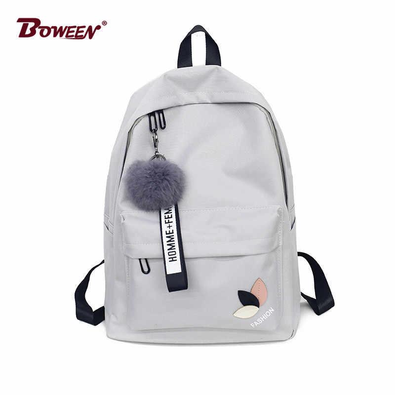 74071a73c9df моды мяч портфель школьный для девочек рюкзак для женщин 2018 подростковый  школьный дух колледжа школьник нейлон