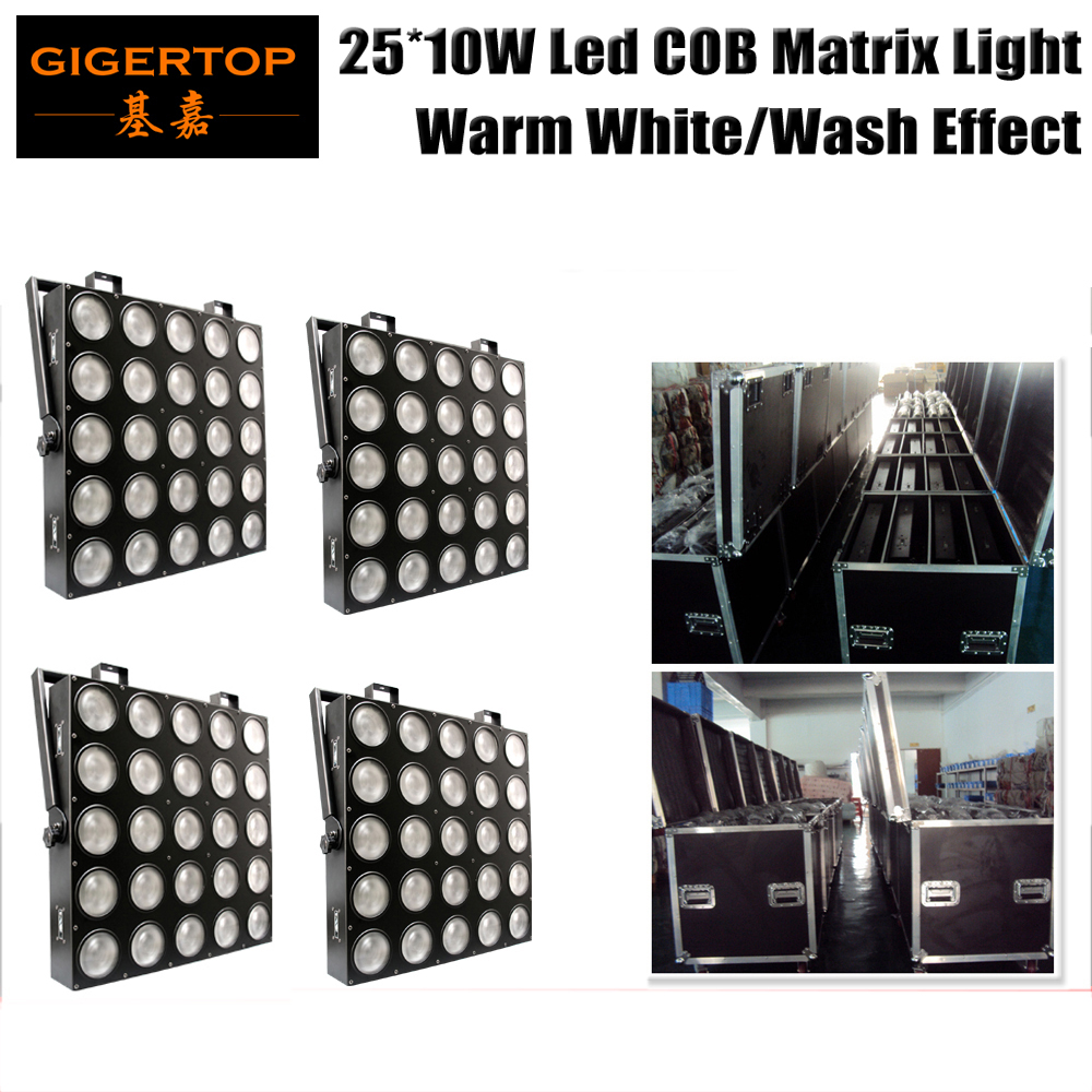 4IN1 Road Case with Wheels Pack 25 Head Led Warm White Matrix Light 5 x 5 3200k Led Audience Light Stage Background Decoration