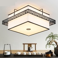 Modern Square/ round Chinese classical ceiling lamps simple living room lamp Antique Iron led bedroom ZA ZS101