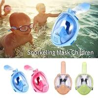 Vertvie Underwater Diving Mask Full Face Snorkeling Mask Anti Fog Respiratory Snorkel Masks Action Camera Children Dry Diving