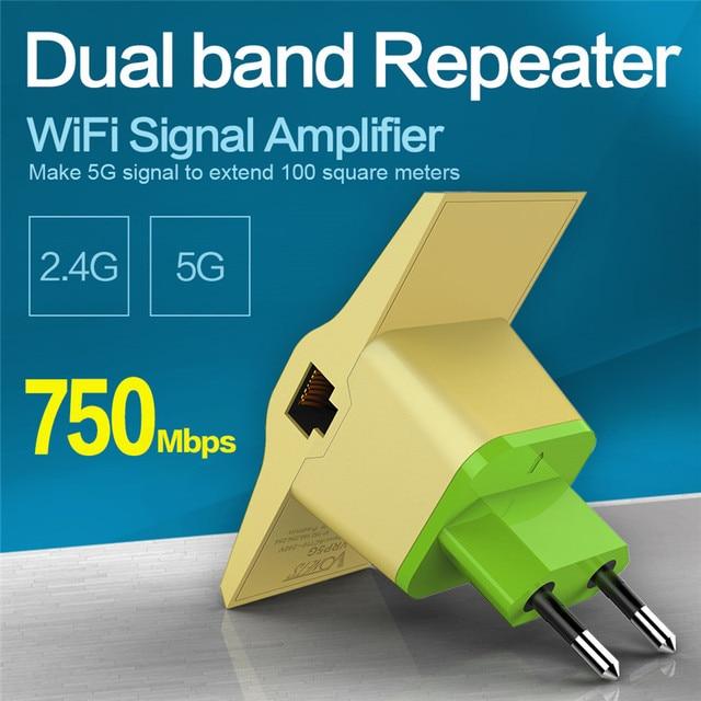 VONETS Беспроводной МАРШРУТИЗАТОР WI-FI Ретранслятор 2.4 ГГц/5 ГГц 750 Мбит Dual Band Сигнала Диапазон Extander Усилитель Сигнала wi fi Усилитель 802.11AC