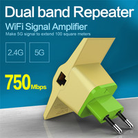 Vonets draadloze wifi router repeater 2.4 ghz/5 ghz 750 mbps dual band signaal range extender signaalversterker wi fi booster 802.11ac