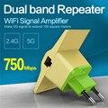 Vonets wi-fi wireless router repetidor 2.4 ghz/5 ghz 750 mbps dual band amplificador de sinal de sinal gama extander wi fi impulsionador 802.11ac