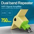 Vonets wireless router wifi repetidor 2.4 ghz/5 ghz 750 mbps extander gama de señal de doble banda amplificador de señal wi refuerzo wi-fi 802.11ac