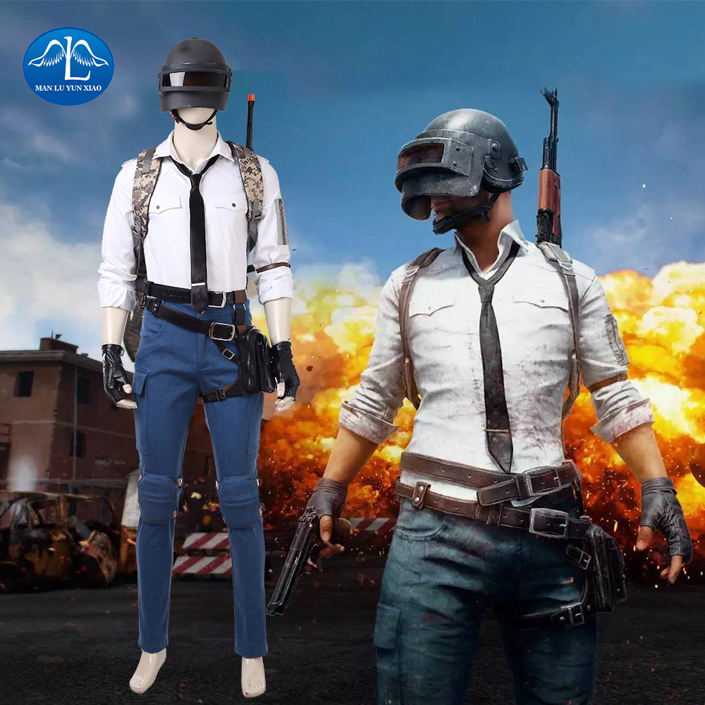 New Hot Game PLAYERUNKNOWN'S BATTLEGROUNDS Costume Men Suit PUBG Cosplay Costume Halloween Costumes For Men Custom Made